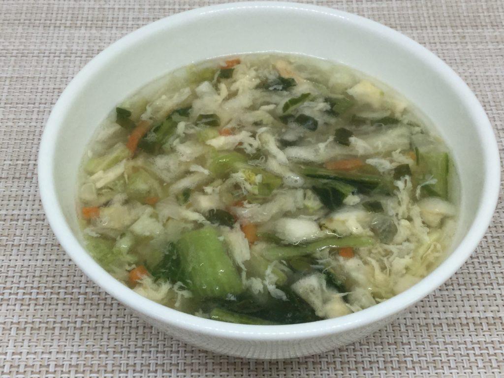 コープ「野菜の美味しいスープ」レビューと口コミ、玉子入り中華風