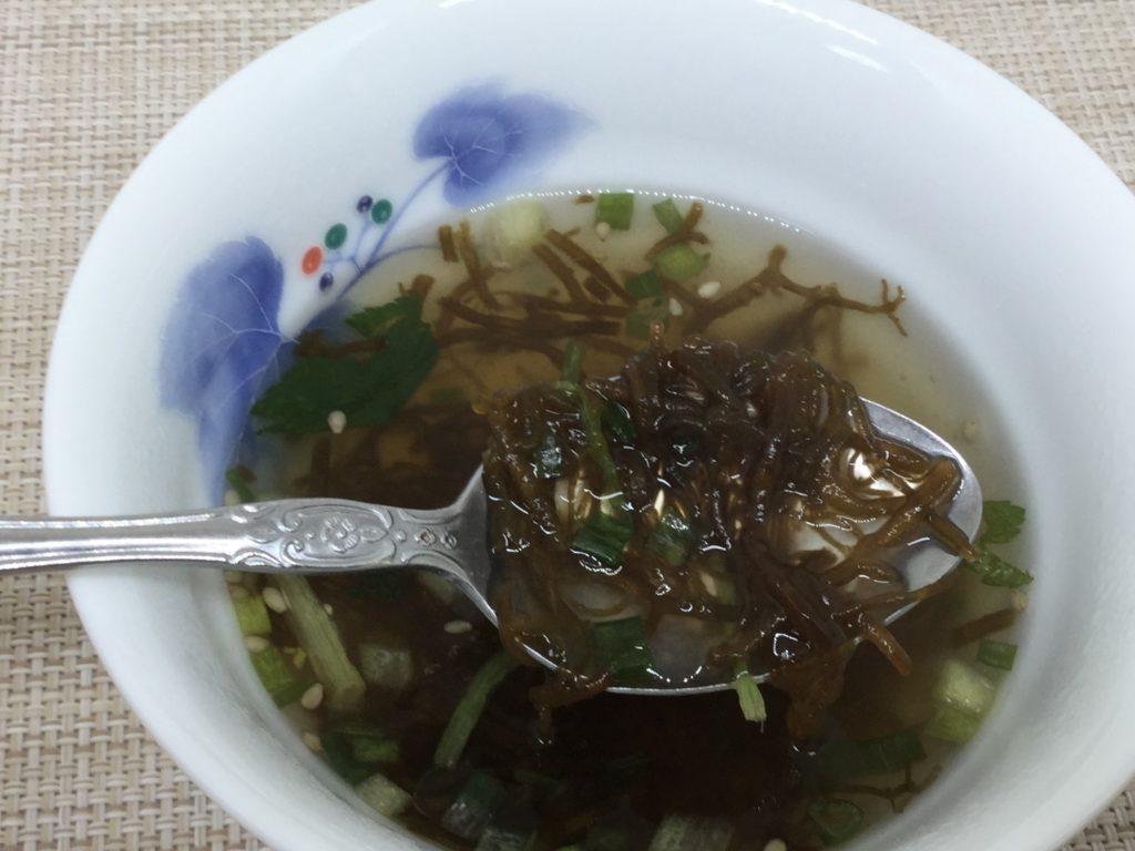 コープ沖縄県産もずくスープのレビューと口コミ、シャキシャキ食感