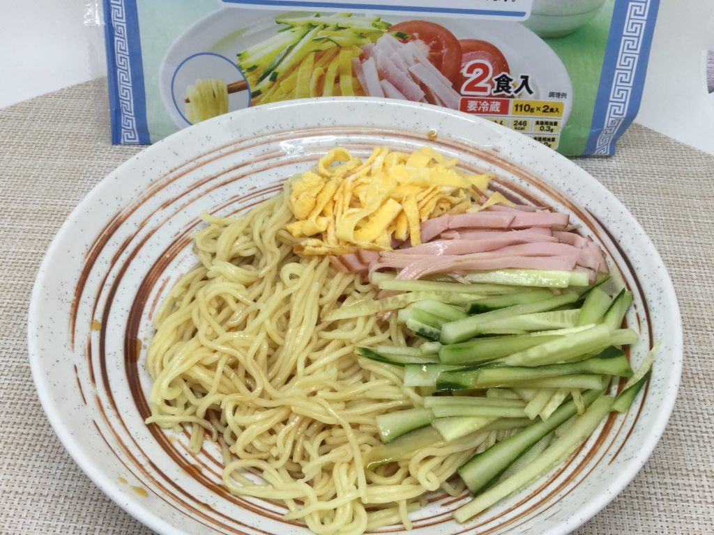 コープの冷やし中華のレビューと口コミ、つるっとコシのある生麺!